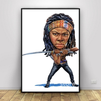 Danai Gurira as Michonne Posters And Prints Art Pictures On Oil Canvas Wall Painting For Living Room image
