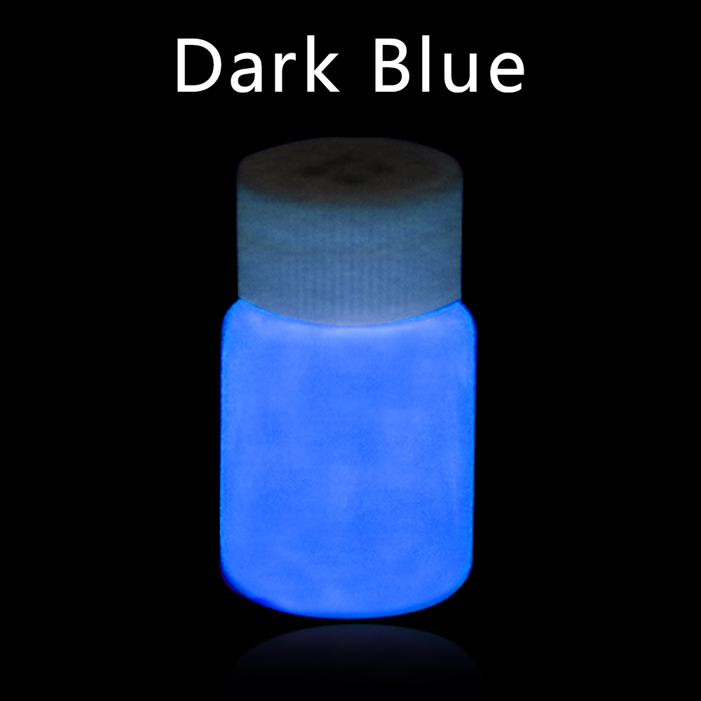20g Dark Blue Luminous Paint Glow In The Dark Fluorescent Coating For Party Halloween Nails Decoration Phosphor Acrylic Paints