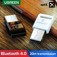 Ugreen Adaptador USB Bluetooth Transmisor Receptor 4,0, Dongle aptx, inalámbrico para auriculares, PC, Receptor de música, Adaptador de Audio y Bluetooth