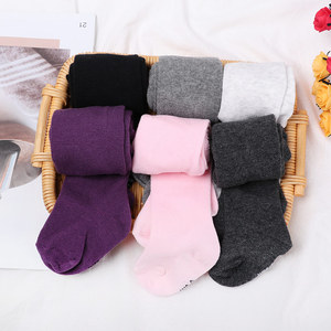 0-2Years Baby Children Autumn Winter Baby Tights Newborn Kids Cotton Warm Stockings Girls Lovely Candy Color Pantyhose
