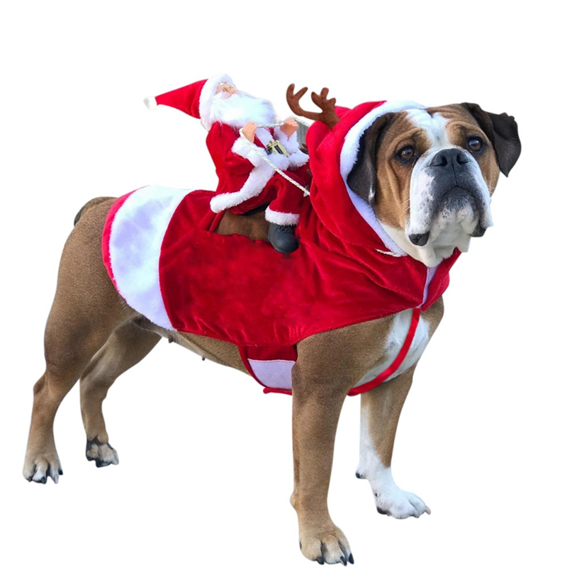 Christmas Dogs Coat Durable Santa Cosplay Outfit For Christmas Carnival Pet Costumes Apparel Party Dressing Up Clothing in Dog Coats Jackets from Home Garden