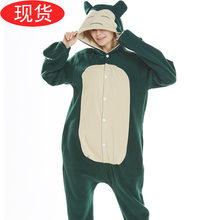 monokuma Kigurumi Onesies Costumes Men women Hooded animal cartoon pajamas blue shark home lovers long sleeve Snorlax Cosplay(China)