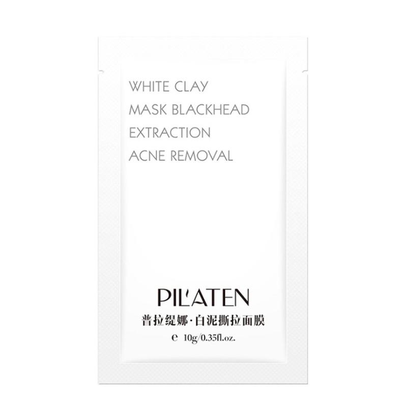 1Pc White Clay Peel-Off Facial Mask Blackhead Acne Horny Remove Cleansing Face Mask Facial Whitening Tearing Masks Skin Care