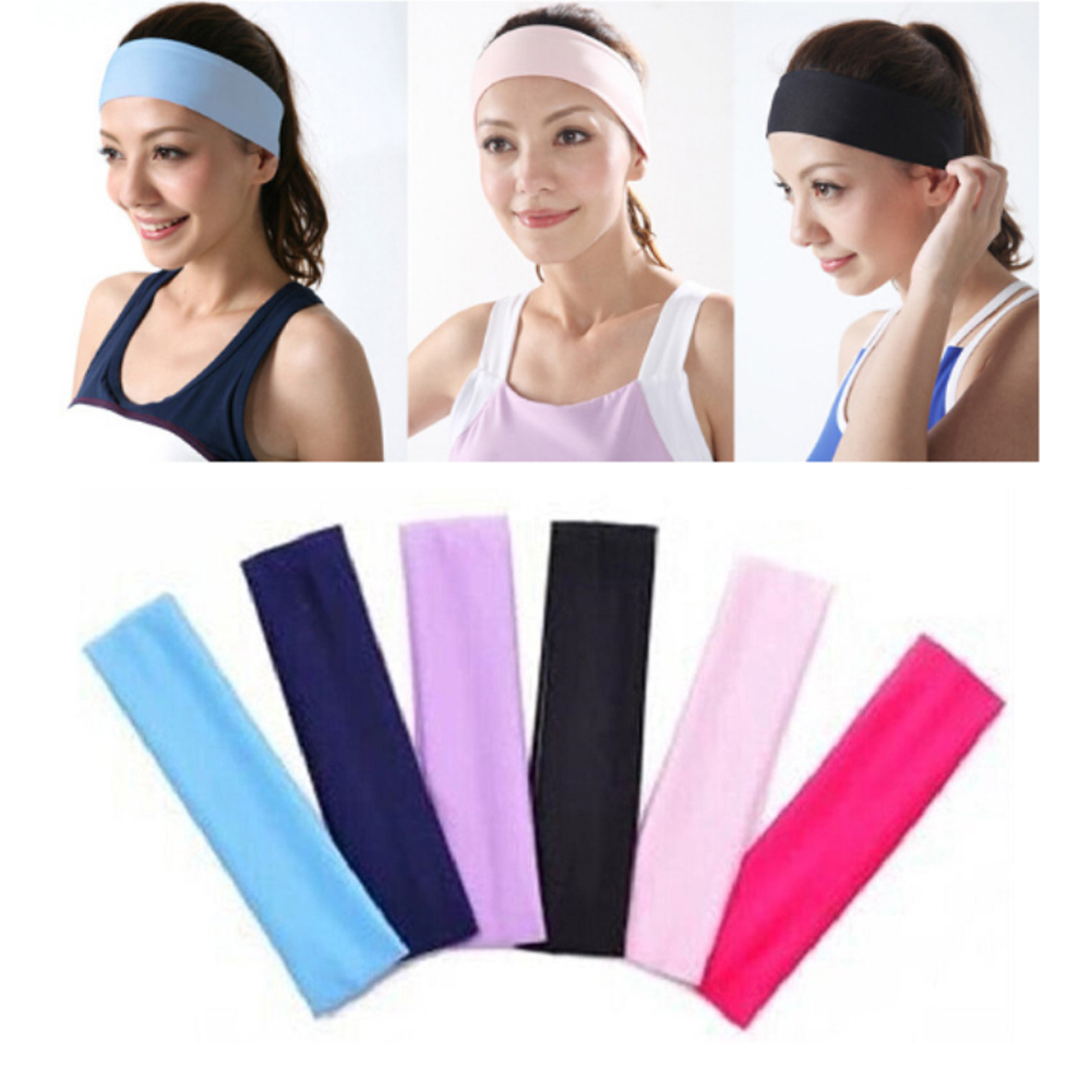 New Arrive Women's Yoga Sports Hair Band Elastic Yoga Sport Headband Sweatband Football Running For Girls Solid Hair Band Mens