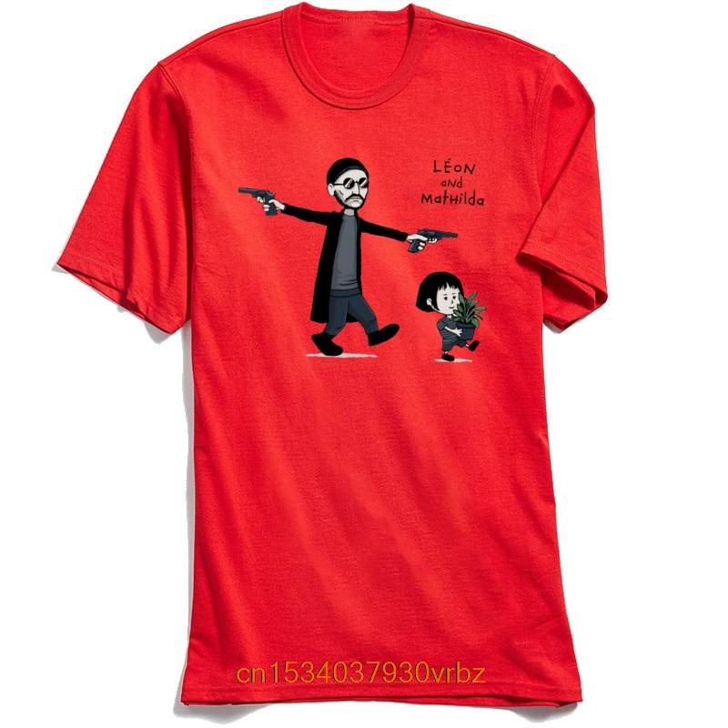 Leon and Mathilda T-shirt Men Women Unisex Tshirt The Professional Killer Couple Lovers Tee Shirts Cartoon Tops 100% Cotton