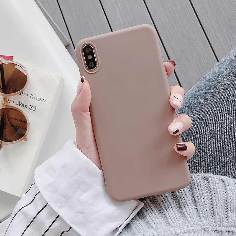 Luksusowe cukierki jednolity kolor cienkie miękkie etui na Samsunga Galaxy A7 A9 A6 A8 Plus 2018 A8S A9S A2 rdzeń A3 A5 a7 2016 2017 S7 S6 krawędzi