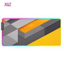 XGZ Linii Figury tektury RGB podkładka pod mysz do gier do gier duża podkładka pod mysz USB podświetlana LED mata biurowa klawiatura podkład na biurko