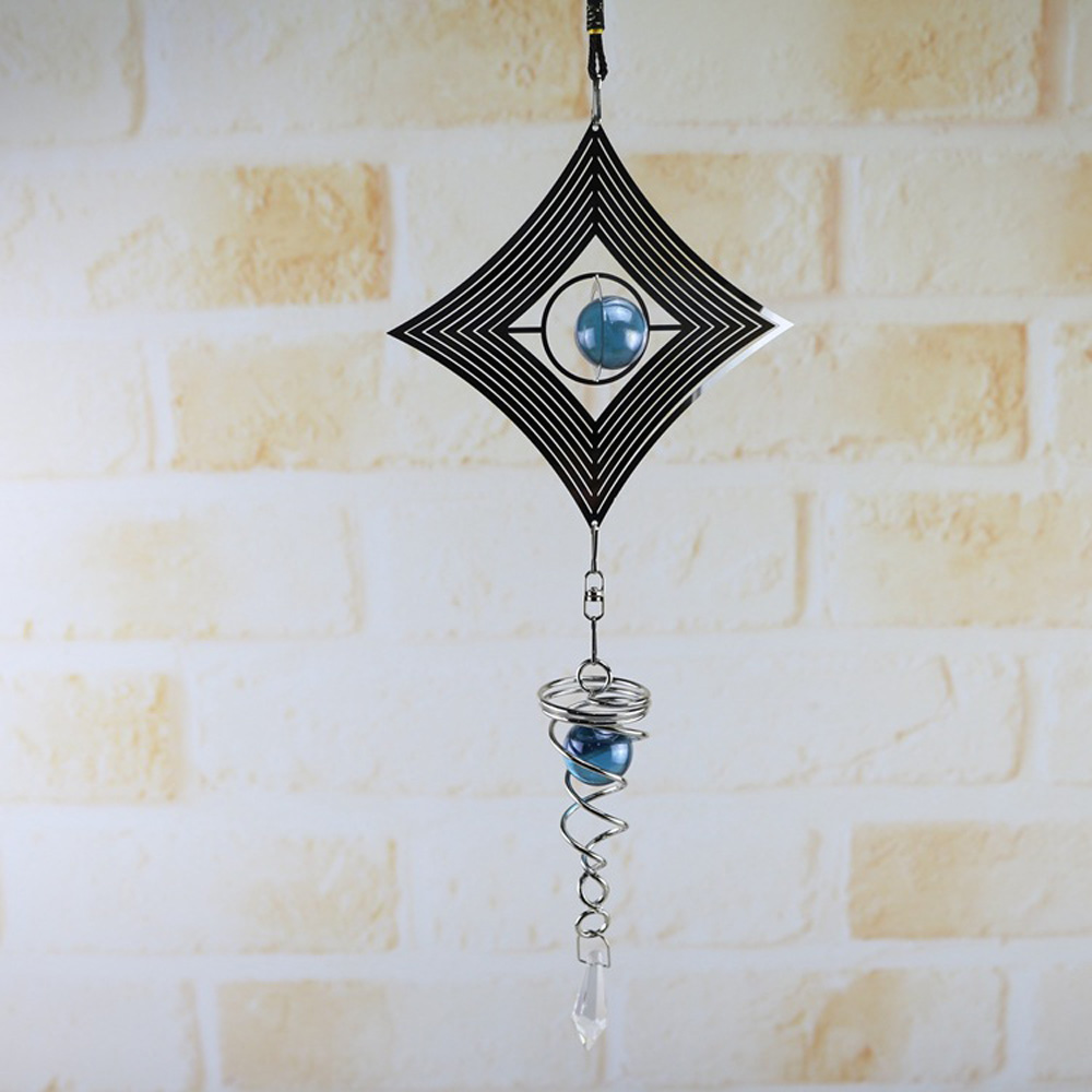 1pc Spiral Rotating Wind Chimes Metal Decoration Windchime Church Yard Home Gifts Hanging Pendant Spinner Ornament