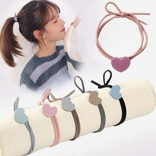 5 Colors Elastic Heart Shape Cassic Simple For Women Hair Band Kid Children Rubber Band High Elasticity hair bands накладной светильник lightstar paro 360672