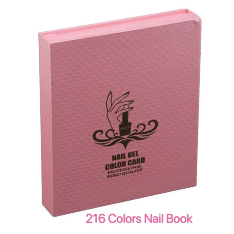 Демонстрация накладных ногтей 216 цветов книжка для демонстрации