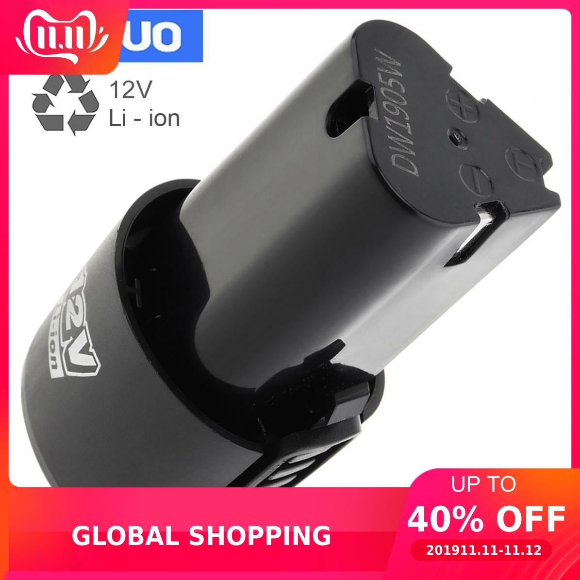 Universal 12V 3 X 1500mAh Capacity Li-ion Battery Disconnect Button For Electric Drill / Pistol Drill / Electric Screwdriver