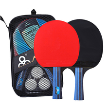 Fitness Ping Pong Racket Table Tennis Racket Set 2pcs Double Face Bat with 3pcs Balls Lightweight Powerful Ping Pong Racket Set personality double tennis racket necklace
