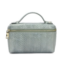 New Style Leather Handles For Handbags Portable Genuine Snake Skin Clutch