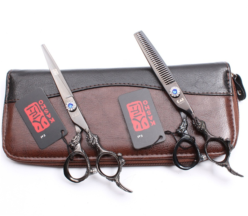 Professional 6 Inch Scissors Hairdressing Scissors Barber Scissors Straight Thinning  Hair Cutting Tool