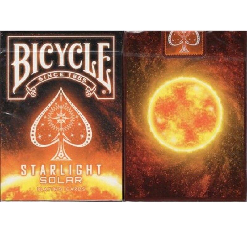 Bicicleta starlight solar jogando cartões de baralho sol cartas mágicas poker close-up truques mágicos adereços para o mágico profissional navio livre