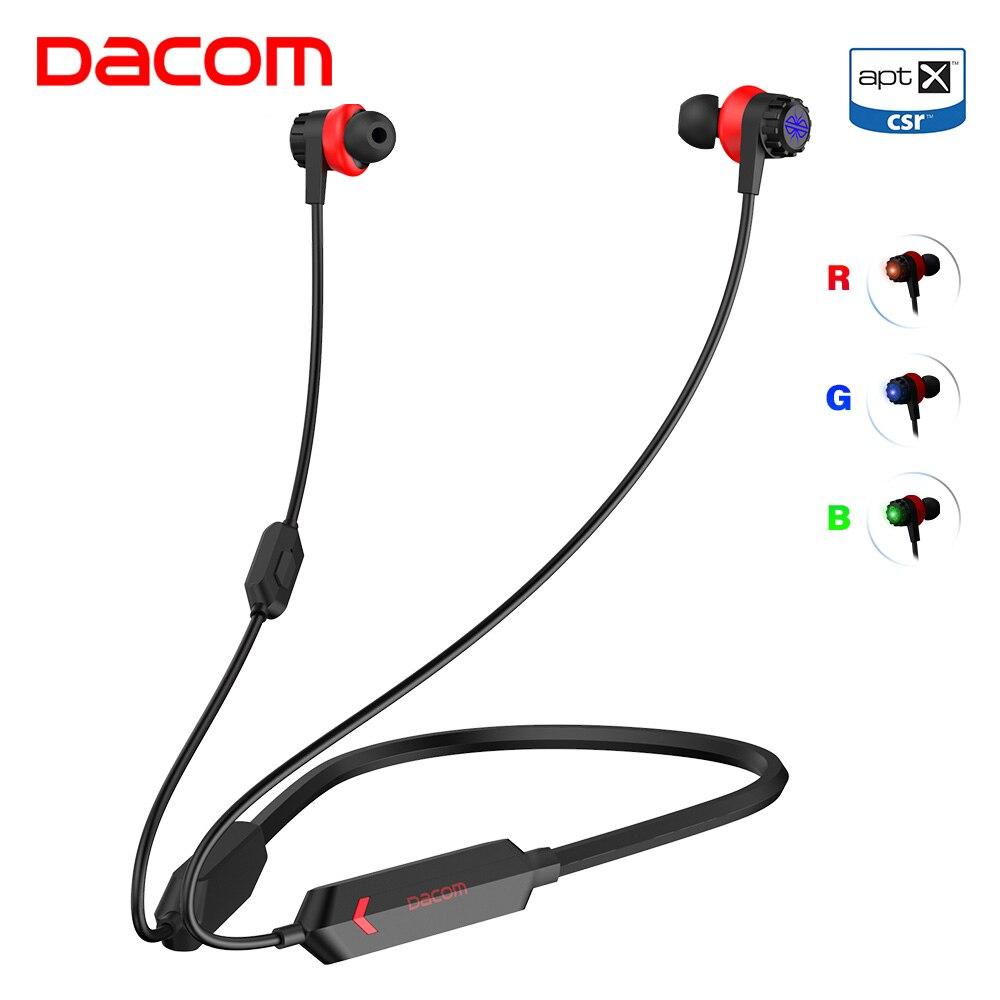 Dacom GH02 игровая bluetooth-гарнитура Gamer aptX Super Bass Беспроводные наушники с микрофоном RGB светодиодный светильник на мобильный телефон