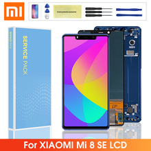 Original LCD For Xiaomi Mi 8 SE LCD Display Touch Screen Digitizer Assembly Replacement With Frame For Mi8 Mi 8 se lcd screen original auo 8 inch a080sn01 lcd screen led 60p digital screen a screen v 8