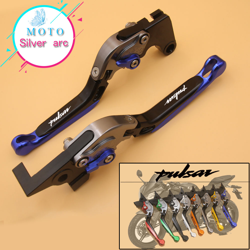 Motorcycle Folding Extendable CNC Moto Adjustable Clutch Brake <font><b>Levers</b></font> For Bajaj <font><b>Pulsar</b></font> <font><b>200</b></font> <font><b>NS</b></font>/<font><b>200</b></font> RS/<font><b>200</b></font> AS image