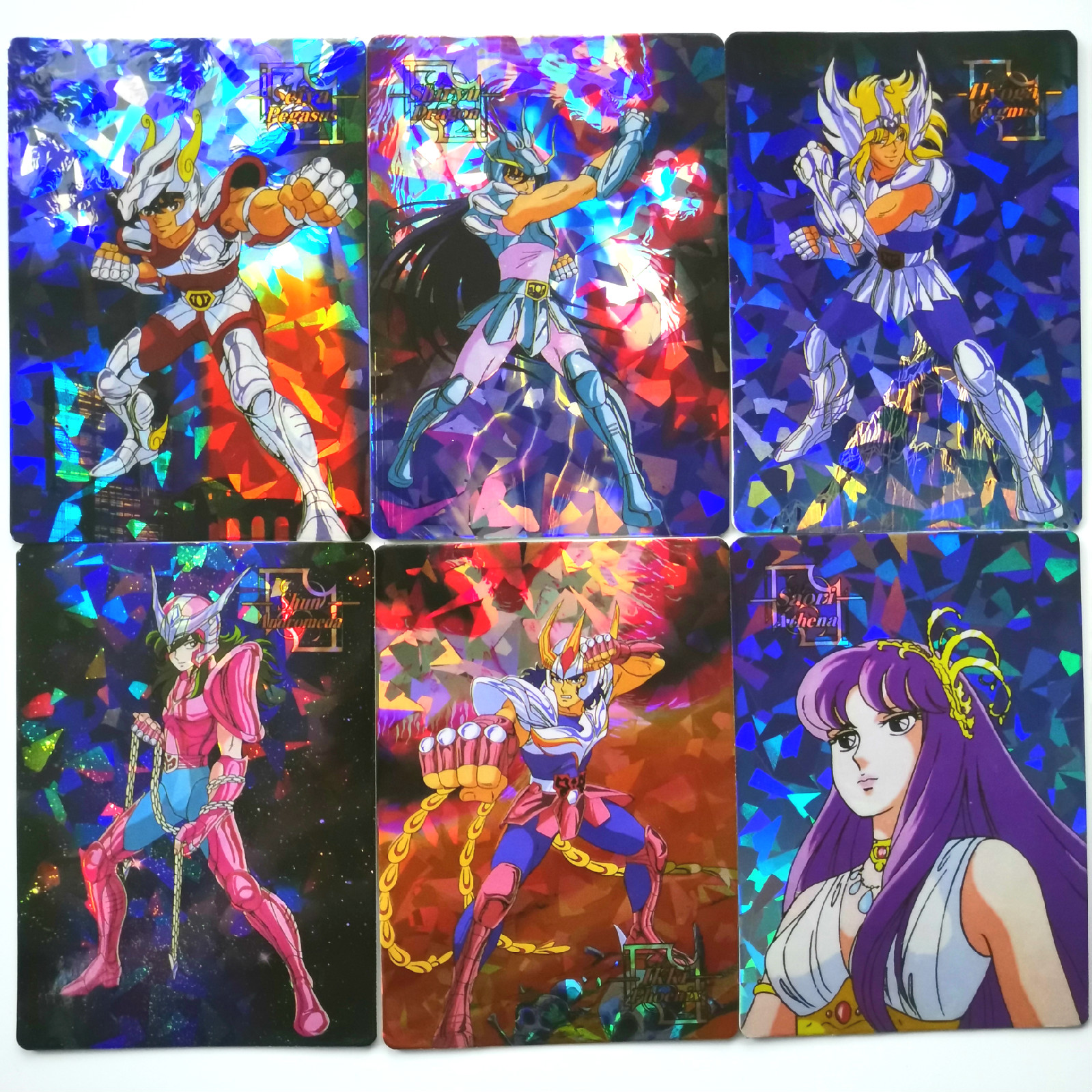 90pcs/set Saint Seiya Broken Glass Childhood Memories Toys Hobbies Hobby Collectibles Game Collection Anime Cards