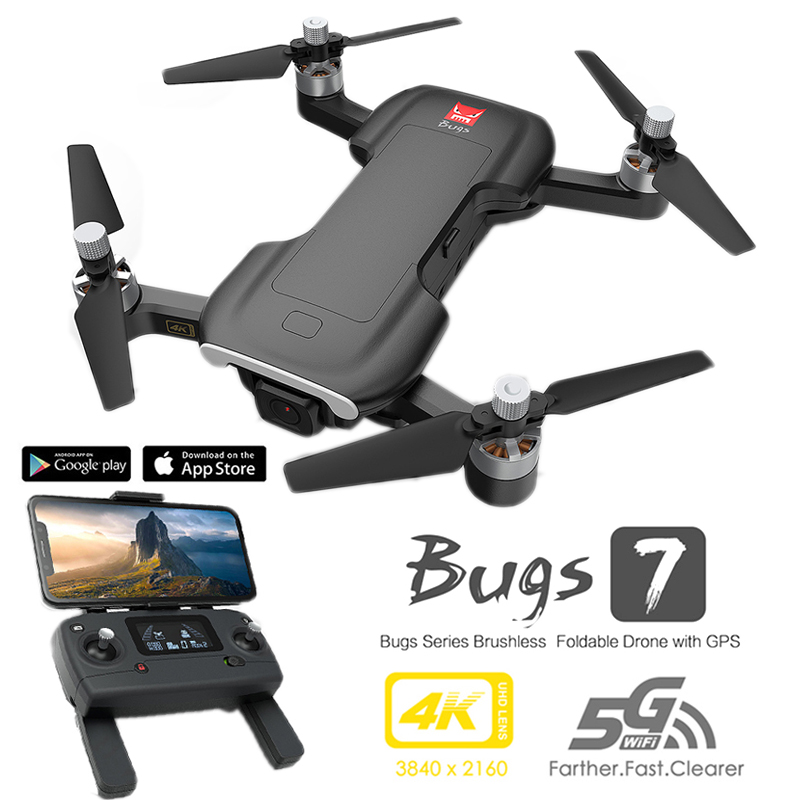 MJX Bugs 7 GPS Drone 4K 5G WIFI HD Camera Brushless Motor FPV Quadcopter Foldable Dron Rc Helicopter B7 Drones with camera hd