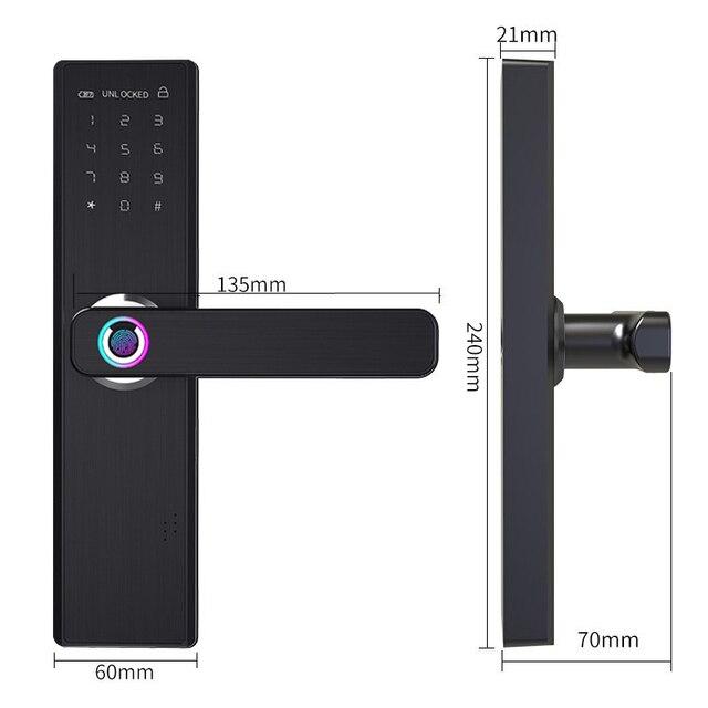Biometrische Vingerafdruk Slot Wifi Smart Deurslot 3