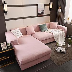 Housse de canapé complète élastique | Couleur unie, mode, tissu Super élastique, 4 côtés élastiques, pour la décoration de la maison