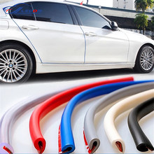 2.5M/5M/10M Car Door Trips Rubber Edge Protective Strips Side Doors Moldings Adhesive Scratch Protector Vehicle For Cars Auto
