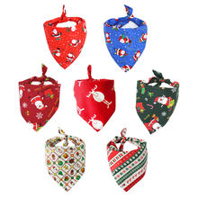 Рождественские банданы для собак треугольные Нагрудники шарфы