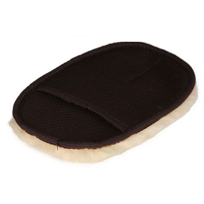 Wool Soft Absorbancy Washing Glove High Density Car Cleaning Brush Ultra Motorcycle Auto Detailing Microfiber Wash Mitt Cloth