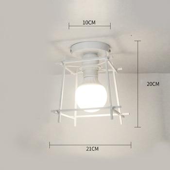 Ceiling lights Minimalist Retro Ceiling Lamp Glass E27 industrial decor  lamps for living room Home Lighting Lustre Luminaria 9