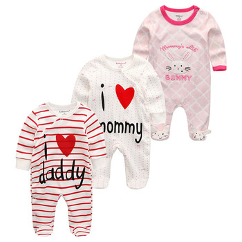 0-12Months Baby Rompers Newborn Girls&Boys 100%Cotton Clothes of Long Sheeve 1/2/3Piece Infant Clothing Pajamas Overalls Cheap - Baby Rompers RFL3125, 12M