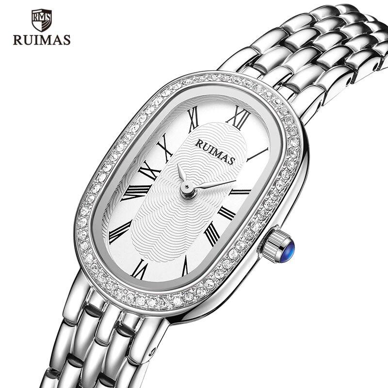RUIMAS Bracelet Watches Quartz Women Ladies Luxury Wristwatch Relogios Feminino Top-Brand Fashion Waterproof Clock Oval Dial 558