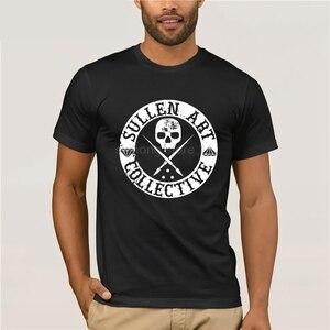 Sullen одежда Daniel Rocha Art Collective Мужская футболка черные Забавные футболки хлопковые топы Футболка винтажная вырез лодочкой