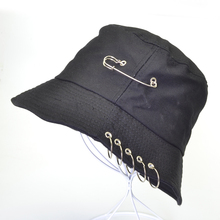 harajuku pop Folding Fisherman Outdoor Hunting Cool Unisex Iron Ring Bucket Hat Summer Autumn Fashion panama Fishing Sun