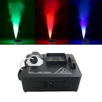 Remote 7CH DMX RGB 1500W Fog Smoke Machine Full Color Firework Fogger for Disco Bar DJ Party Beam Stage Lights Show System ASD15