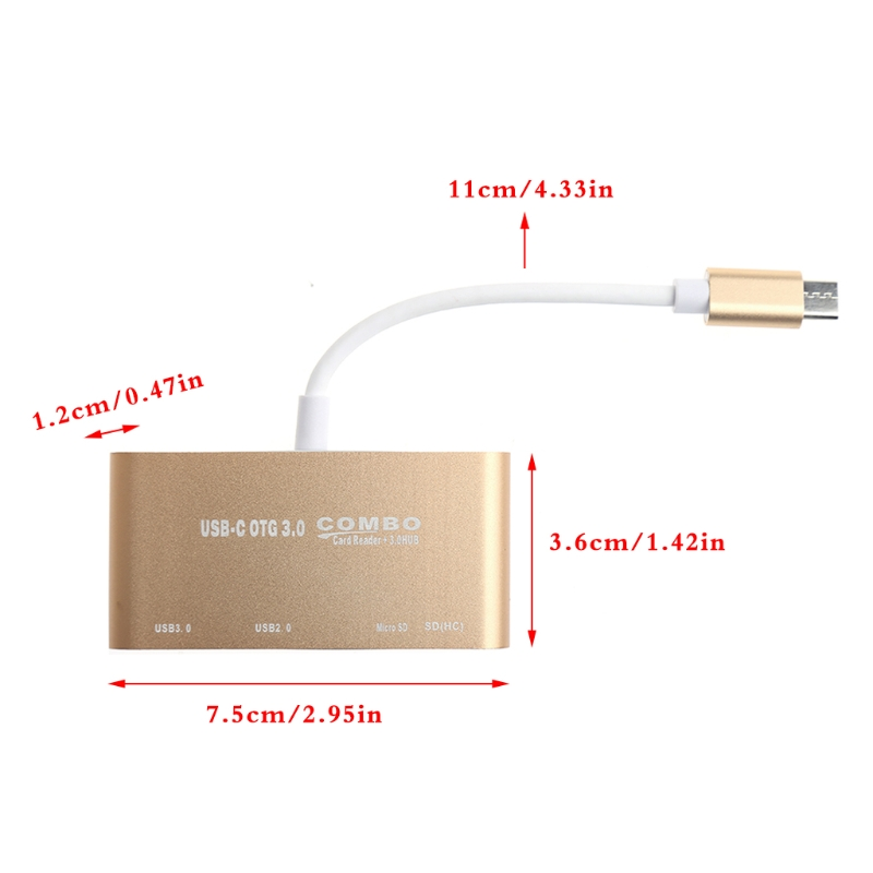 5 In 1 USB C 3 1 Type C OTG USB 3 0 2 0 Hub SD TF Card Reader Combo For Laptop in USB Hubs from Computer Office