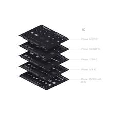 QIANLI plant tin black net For iPhone 6 6P 6S 6SP 7 7P 8 X XS XS MAX XR IC Repair planting