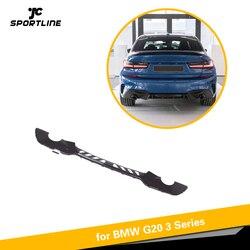 Z włókna węglowego tylny zderzak samochodowy dyfuzor Lip spojler do BMW serii 3 G20 G21 M Sport 2019 2020 z tyłu dyfuzor