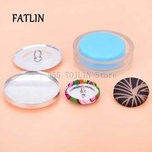 Botão coberto 20 ou 50 conjuntos diy feito à mão tecido botão pão forma redonda tecido cobrir pano botão base semi-acabado produto