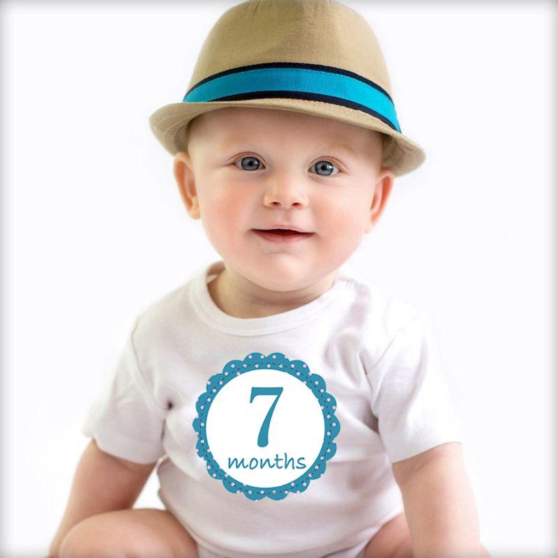 12Pcs Set Newborn Baby Monthly Stickers Pregnant Monthly Milestone Photo Sticker G99C