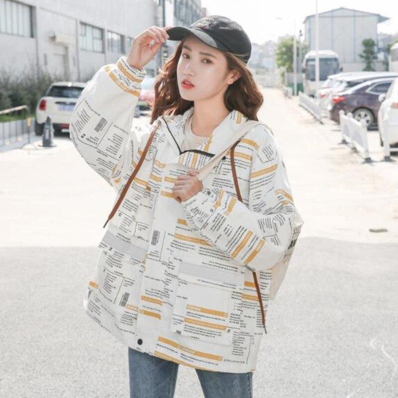 #9137 Spring Thin Casual Loose Hoodies Jackets Coats Women Plus Size Long Sleeve Jacket Ladies Big Pockets Hooded Streetwear 3