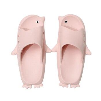 Cartoon Women Slippers Penguin Summer Sandals Slides Cute Shoes Flip Flops Sandalias Mujer Couple