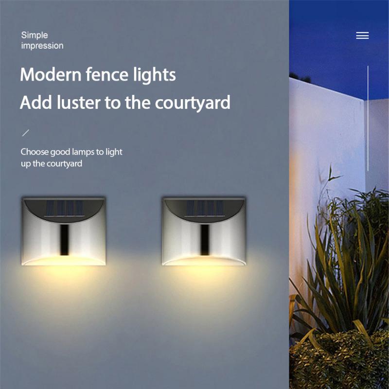 Stainless Steel Shell LED Solar Light PIR Motion Sensor Waterproof Outdoor Wall Lights Lighting For Garden Home Decor Cocina