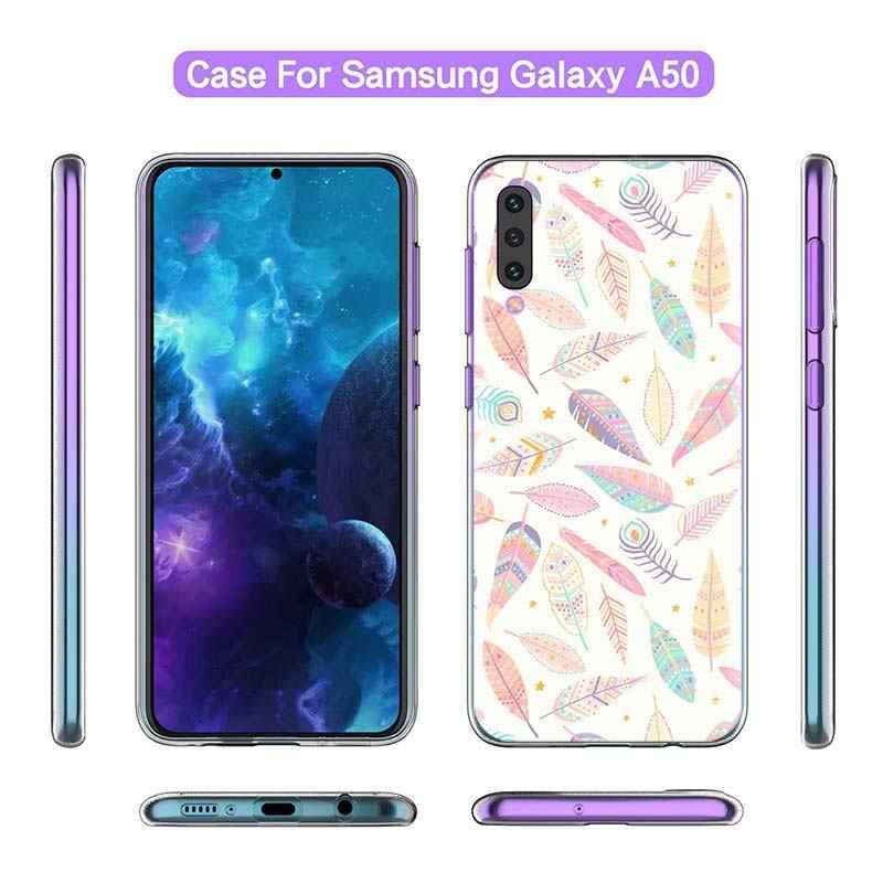 Foglie e Fiori di Arte per il Caso di Samsung Galaxy A50 A51 A71 A20e A70 A60 A40 A30 A30s A10s A21s A9 a7 2018 Copertura Del Telefono Del Silicone