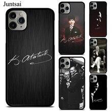 Juntsai Mustafa Kemal Ataturk Phone Case For iphone 11 Pro Max X XR XS Max SE 2020 6s 7 8 Plus 5 Rubber Cover