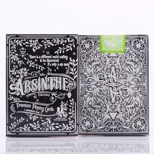 1pcs Absinthe V2 Playing Cards Ellusionist Deck Magic Card Poker Close Up Stage Tricks for Professional Magician Free Ship