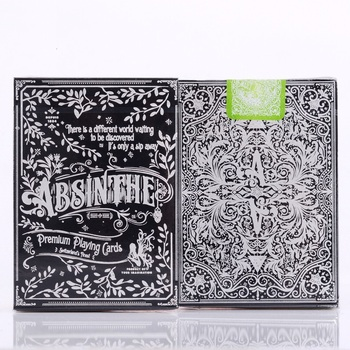 1pcs Absinthe V2 Playing Cards Ellusionist Deck Magic Card Poker Close Up Stage Magic Tricks for Professional Magician Free Ship magic cards svengali deck atom playing cards poker card games close up stage magic tricks props for magician