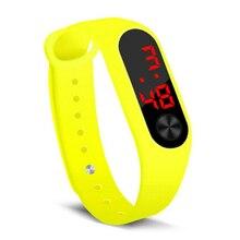 Silicone LED Display Waterproof Watch Digital Wristwatch Kids Students
