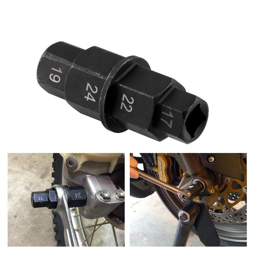 Motorcycle Front Rear Wheel Axle Hex 17 19 22 24mm Axle Hex Spindle Driver Removal Tool For Honda/Kawasaki/Suzuki/Yamaha