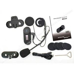 Image 5 - Nieuwe Bijgewerkte Versie!! Motorrijwiel Bt Bluetooth Multi Interphone Headset Helm Intercom T COM Lcd scherm Fm Radio